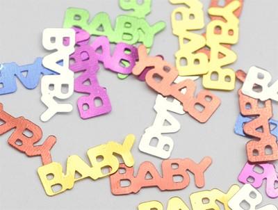 Konfetti 'Baby' metallic bunt