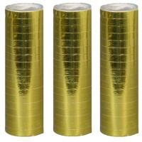 Luftschlangen, standart, gold, 100er