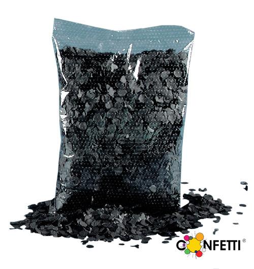 Konfetti, schwarz, 200 gr.