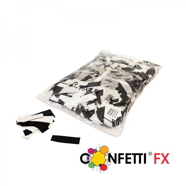 FX Konfetti metallic bicolour schwarz weiß