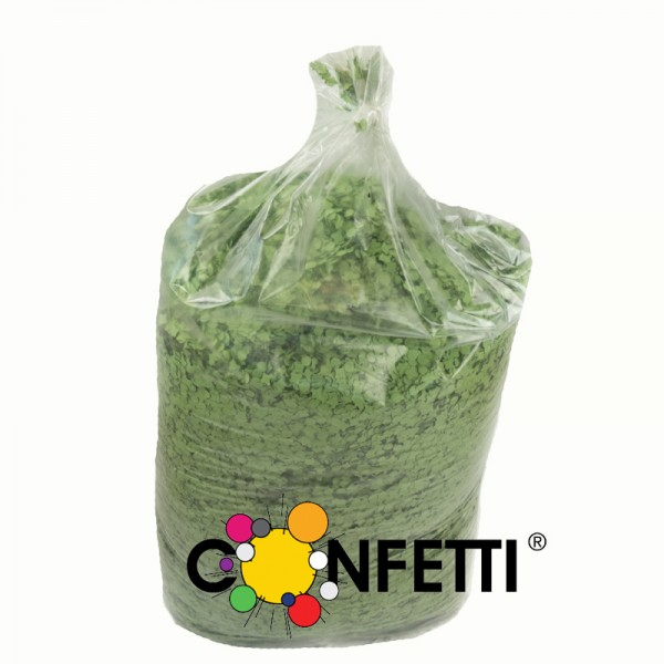 Konfetti Star 10 kg hellgrün