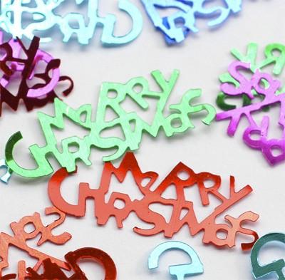 Konfetti 'Merry Christmas' metallic bunt