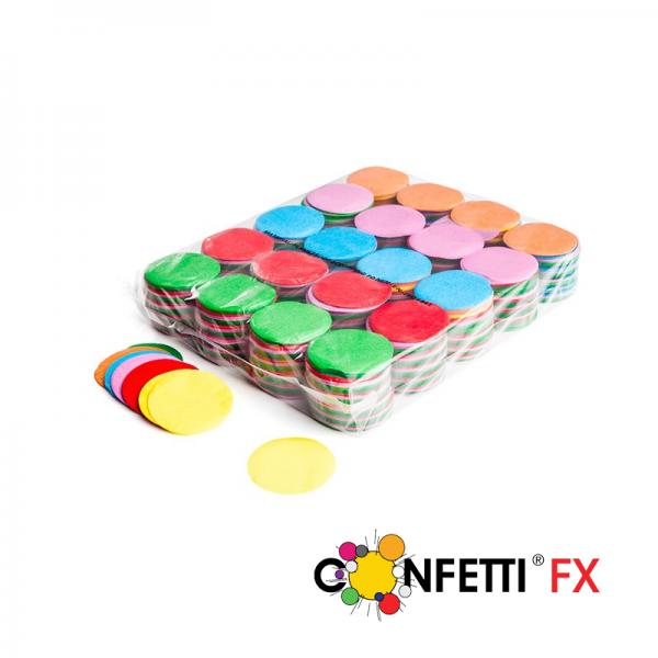 FX Slowfall Konfetti rund bunt - 1 kg