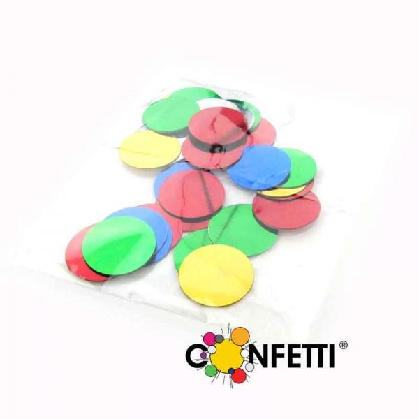 Konfetti metallic bunt rund, 4-6g Beutel