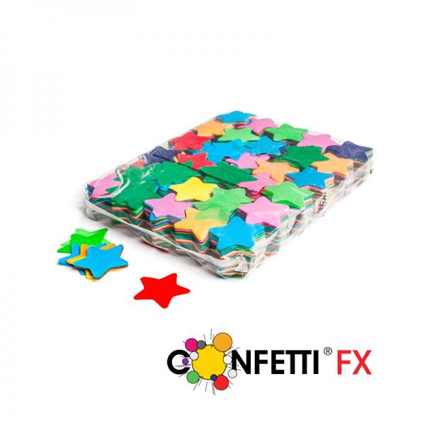 FX Slowfall Konfetti Sterne bunt - 1 kg