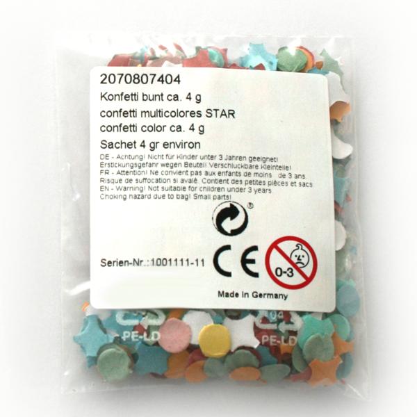 Mailing Konfetti Snap Cut 4-10g Standard Ettiket