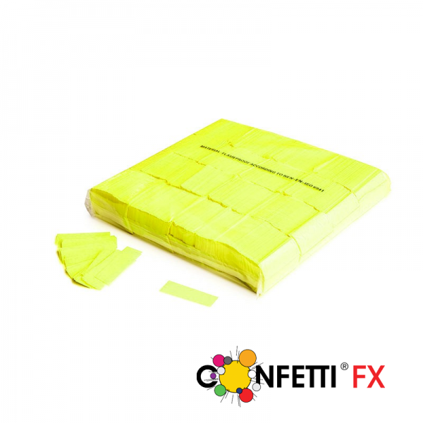Slow Fall Konfetti, gelb, UV aktiv, 1 kg