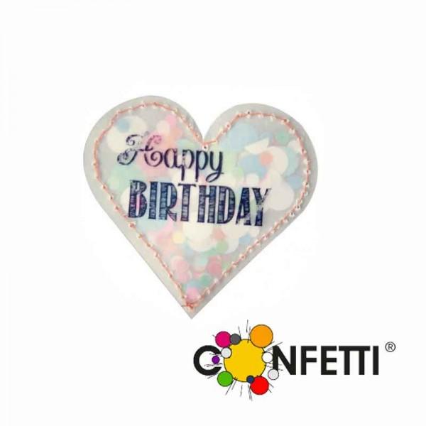 Konfettiherz Happy Birthday
