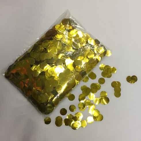 Ballon Konfetti gold metallic