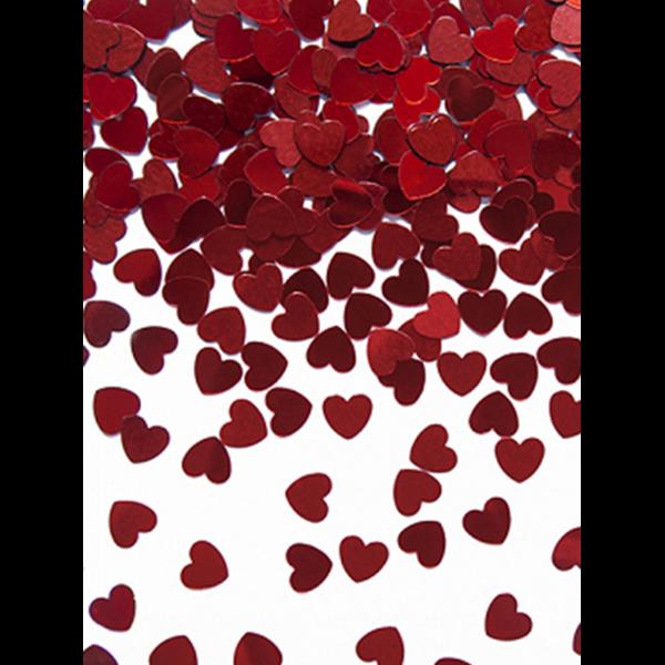 Konfetti Herzen rot metallic 30g