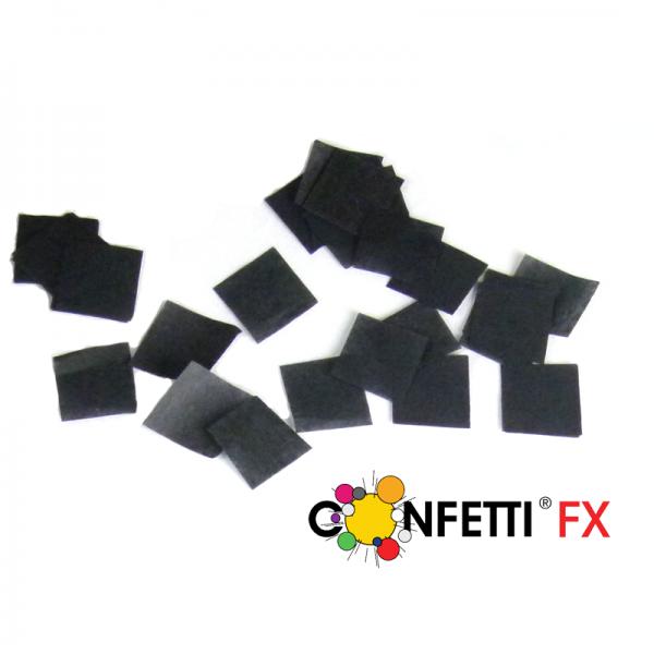 Slowfall FX Konfetti schwarz - 2x2cm