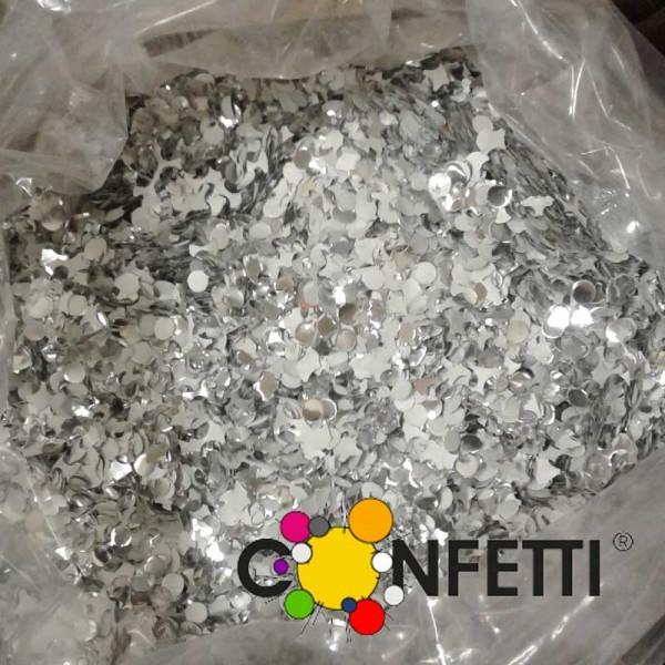 Star Konfetti weiss silber, 10 kg