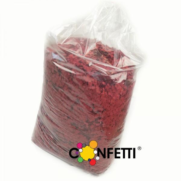 Konfetti Star 10 kg rot