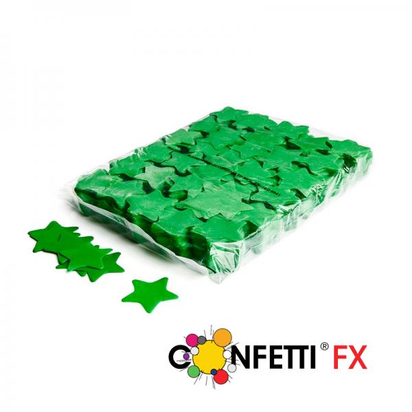 FX Slowfall Konfetti Sterne dunkelgrün 55mm - 1 kg